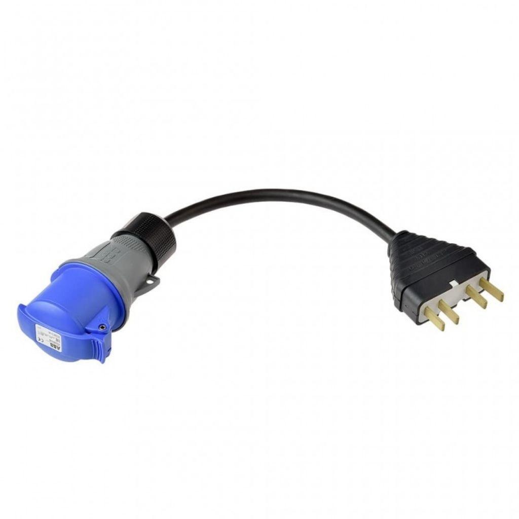 преходник за индустриален трифазен контакт 25 ампера