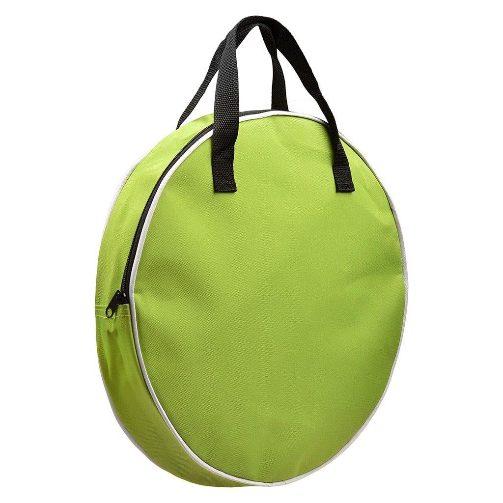 кръгла зелена чанта с цип Duosida