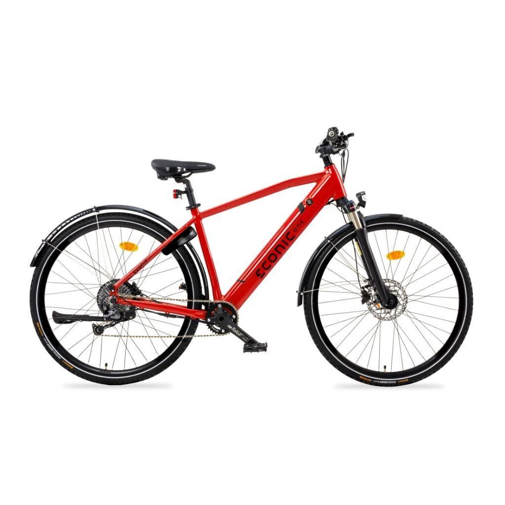градски електрически велосипед econic one smart в червен цвят