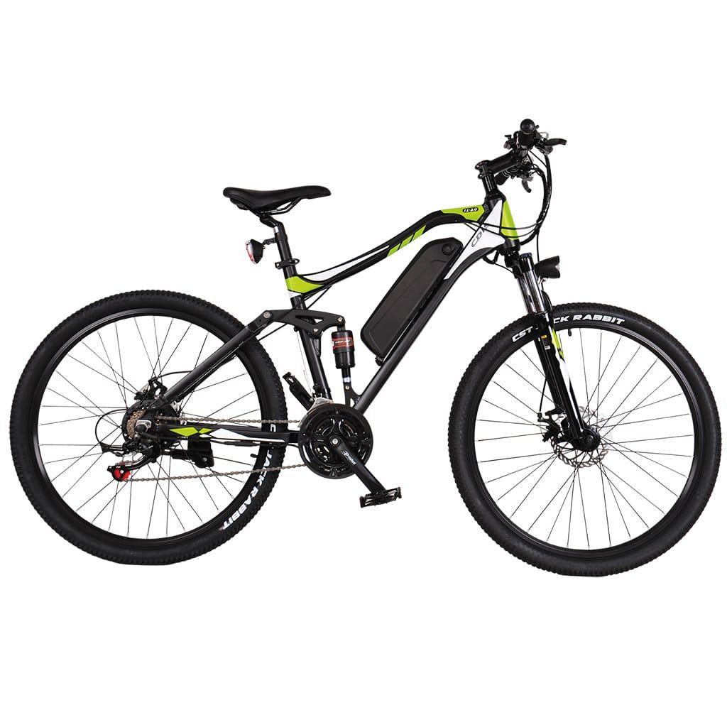 планински електрически велосипед Елмотив CD 15 черен цвят