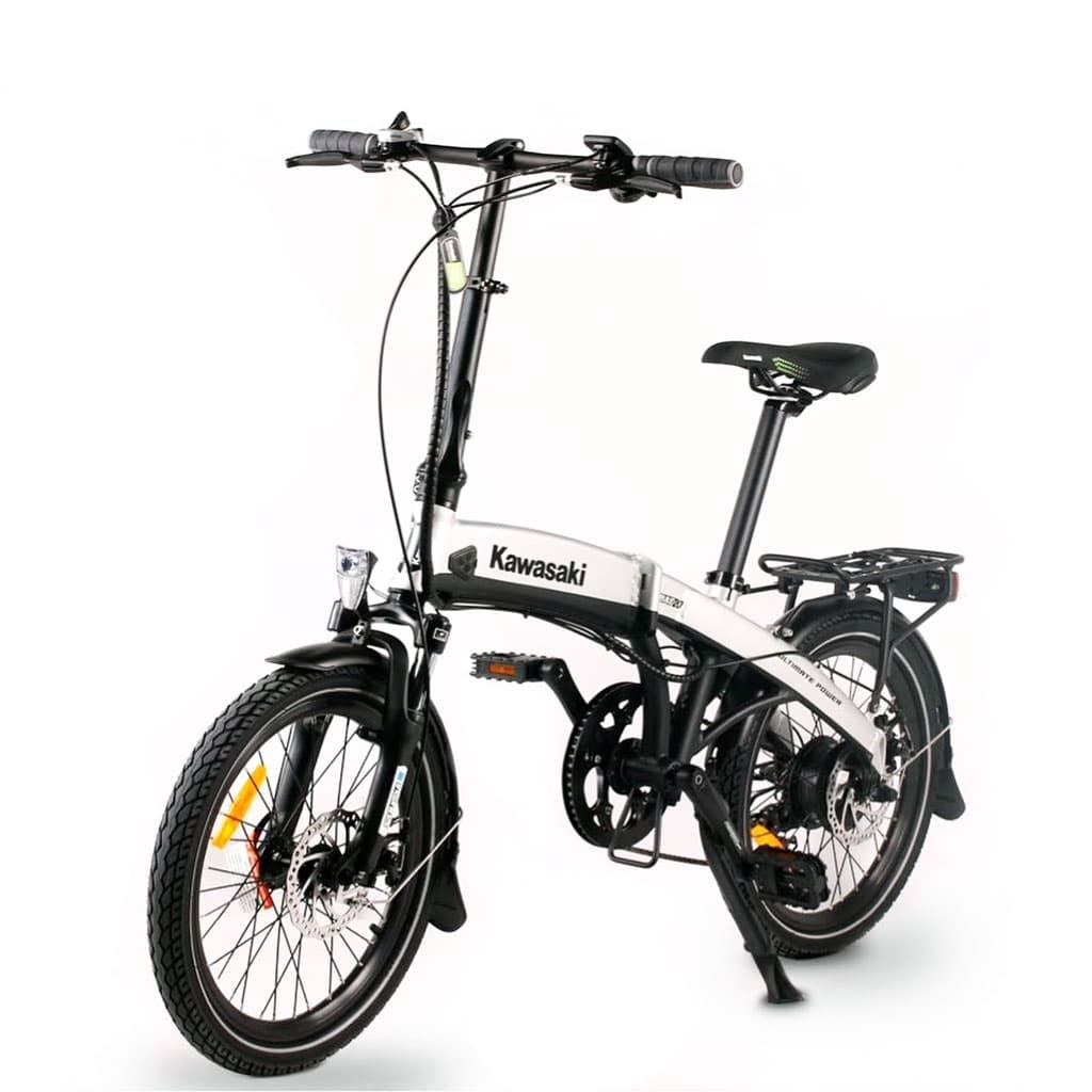 компактен електровелосипед Kawasaki