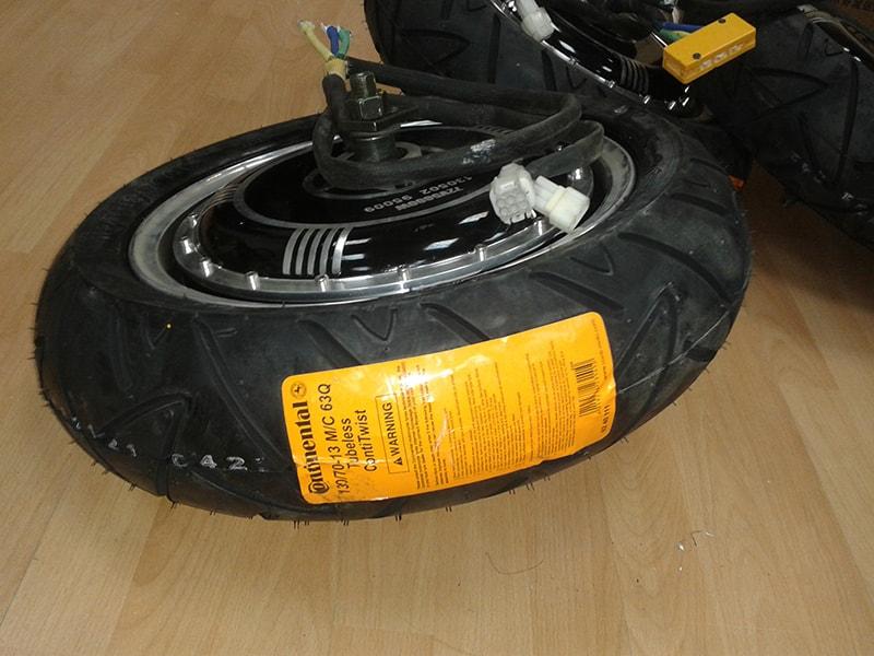 електровигател с гума continental