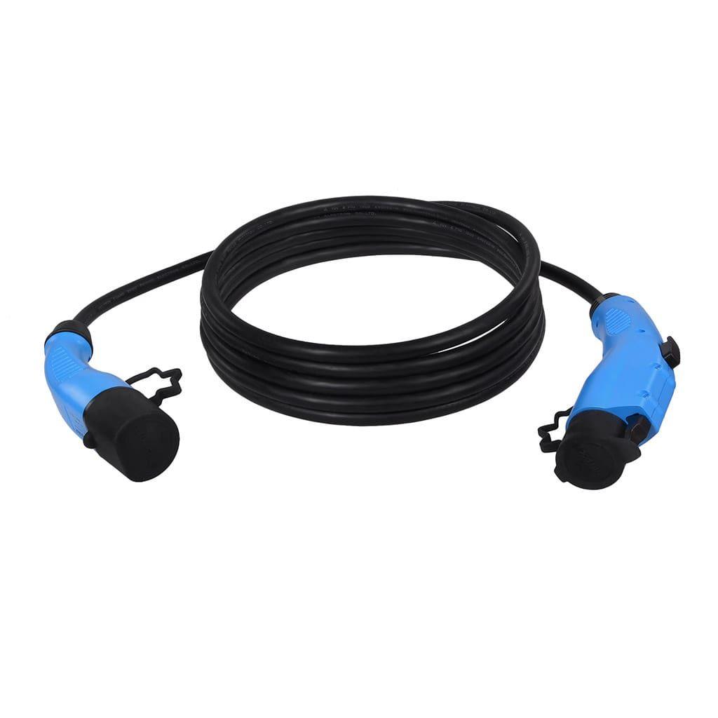 кабел за зареждане на електромобил тип 2 към тип 1 16 ампера