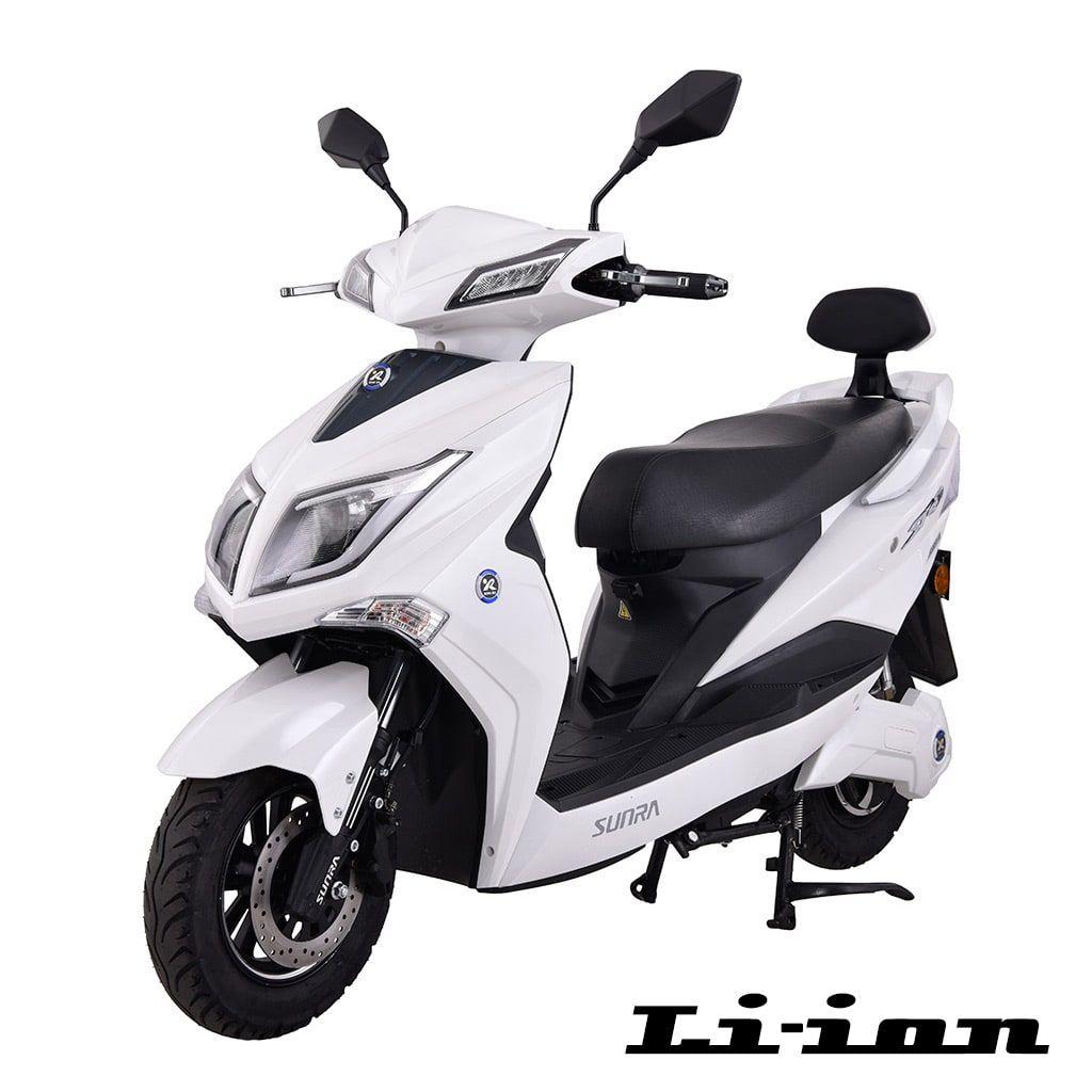 електрически мотопед Sunra Hawk бял цвят
