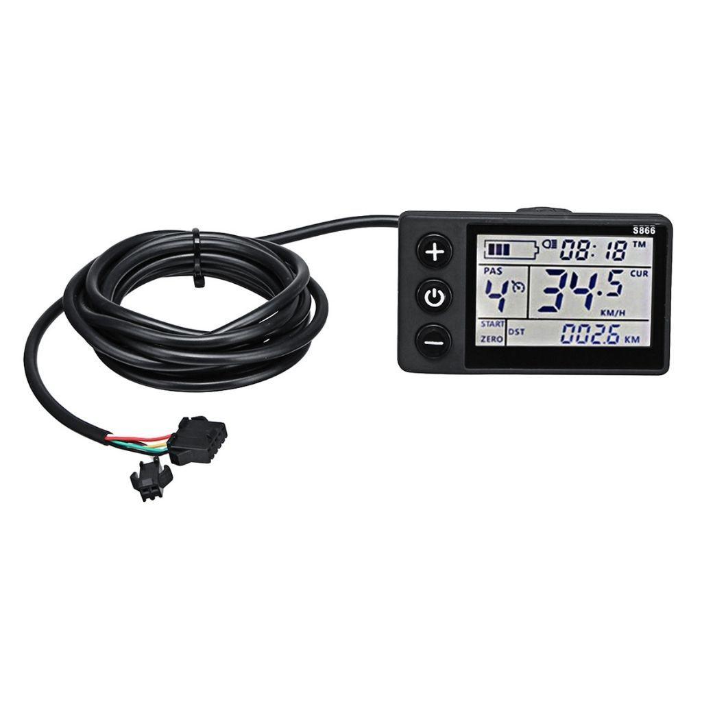 LCD дисплей за електрически велосипеди s866