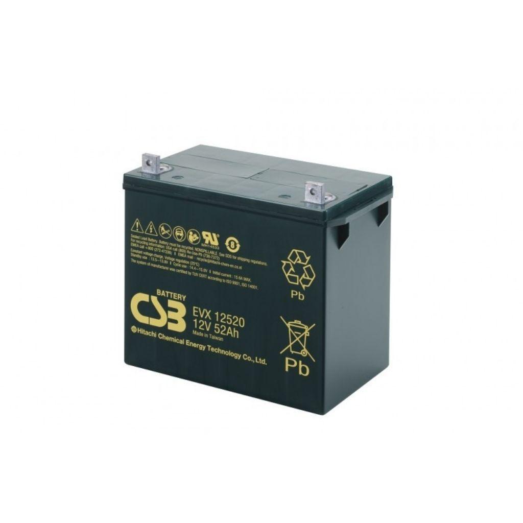 тягов цикличен agm акумулатор csb evx 52 ah