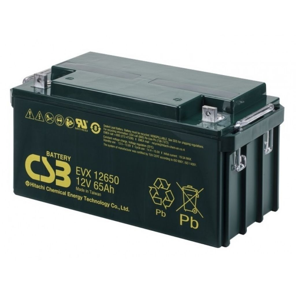 тягов цикличен agm акумулатор csb evx 65 ah