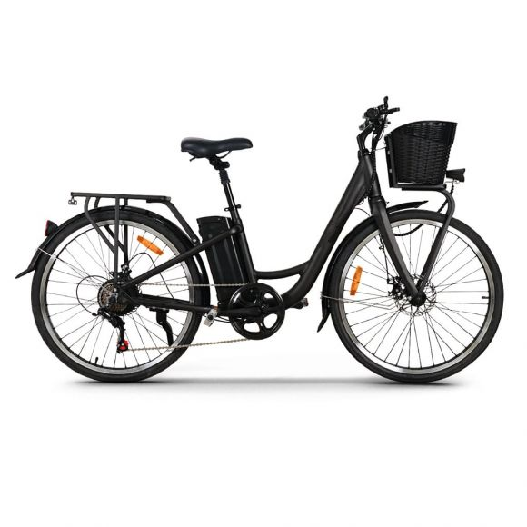 Градски електрически велосипед Elmotive CityBike 26 | черен