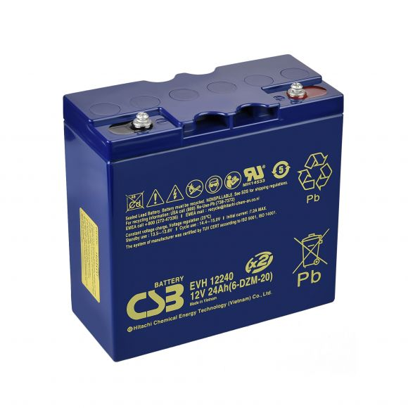 Усилен тягов акумулатор CSB | 12 V 24 Ah