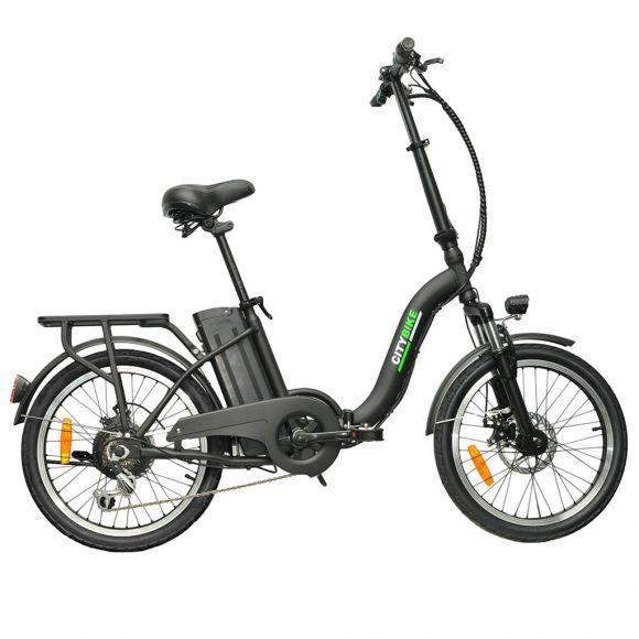 Сгъваемо електрическо колело Elmotive CityBike 20 | черен