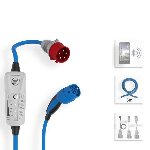 Мобилна зарядна станция за електромобил NRGKick Light | 22 kW 3-фазна | CEE 32А към Тип 2
