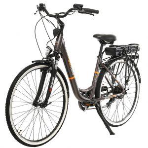 Градски електрически велосипед EcoBike CityL PRO 350W | кафяв