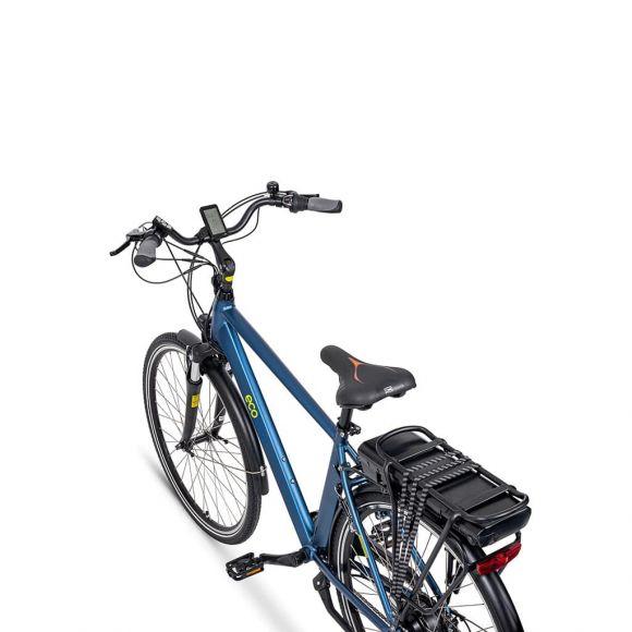 градско електрическо колело с батерия на багажника