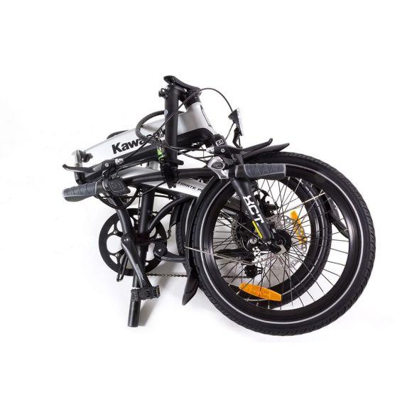 компактни размери на сгънато електро колело kawasaki