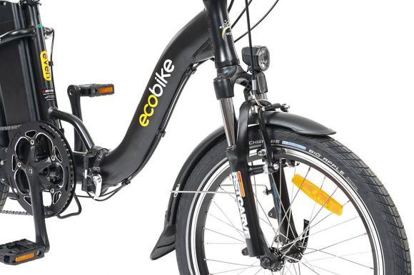 сгъваемо електрическо колело ecobike черен цвят