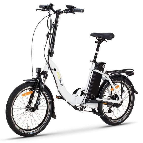 Сгъваемо електрическо колело EcoBike Even | бял