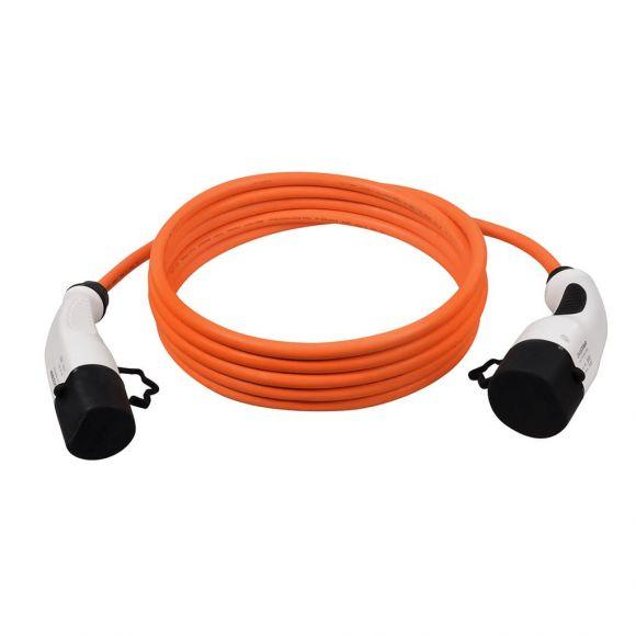 Кабел за зареждане Тип 2 към Тип 2 | 32 А 7,4 kW | оранжев | 5м