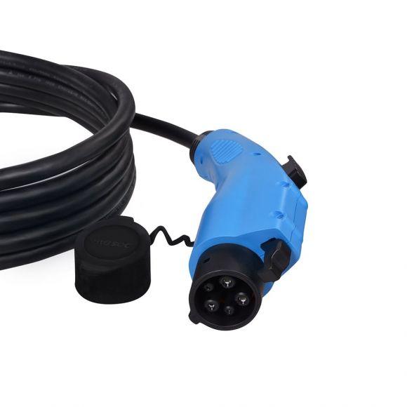 зареждащ кабел за електрическа кола с конектор type 1 16 ампера