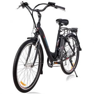 Градски електрически велосипед Longwise 2606 черен мат