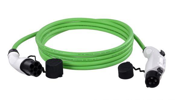 монофазен кабел тип 2 към тип 1 до 7,4 kW