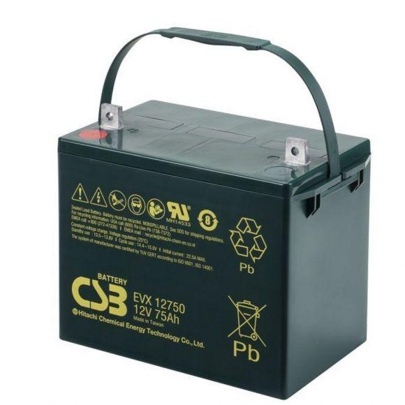 тягов цикличен agm акумулатор csb evx 75 ah