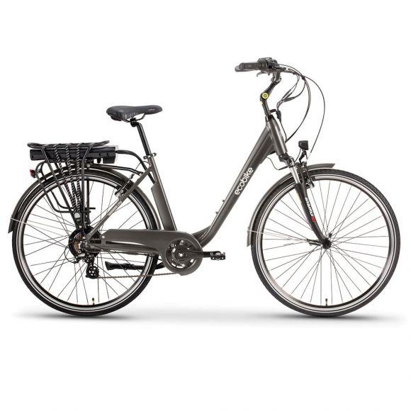 Градски електрически велосипед EcoBike Traffic PRO 350W | сив