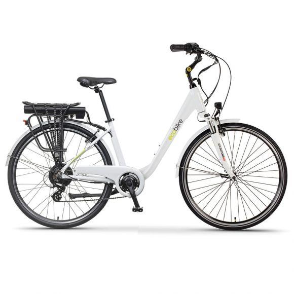 Градски електрически велосипед EcoBike Traffic PRO 350W | бял