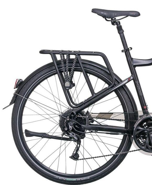 трекинг електровелосипед с багажник