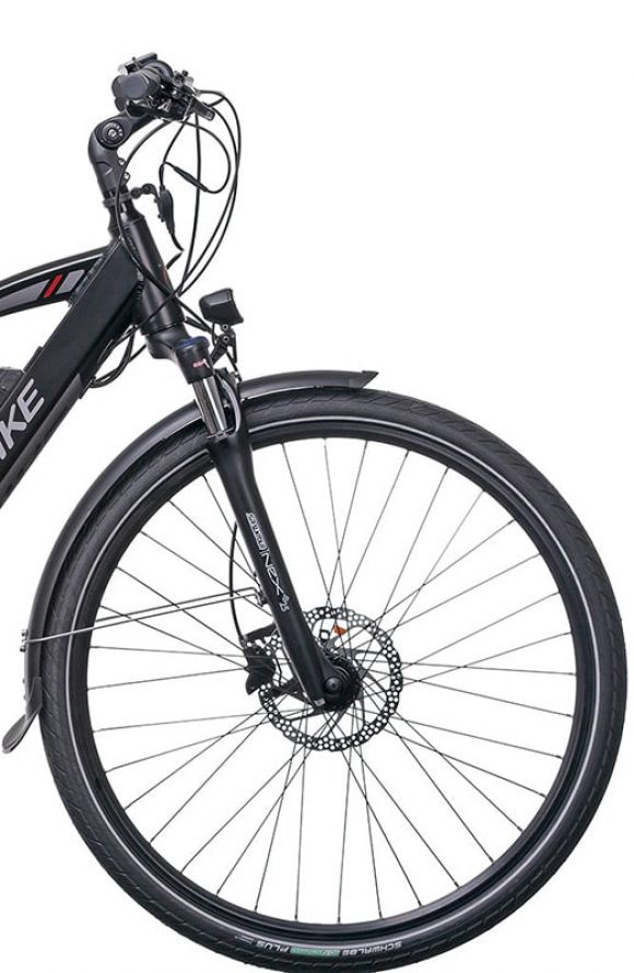 трекинг електрическо колело с 28 инчови гуми