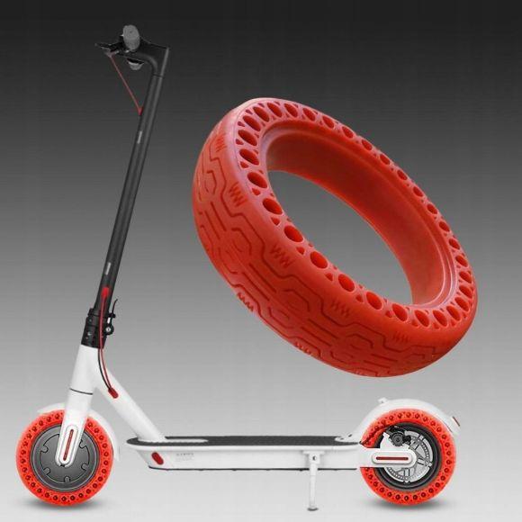 твърда червена ненадуваема гума за тротинетка xiaomi m365