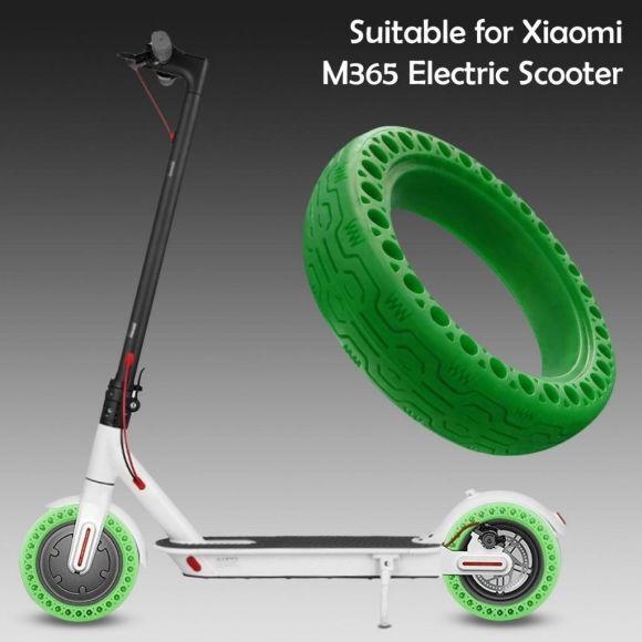 твърда зелена ненадуваема гума за тротинетка xiaomi m365